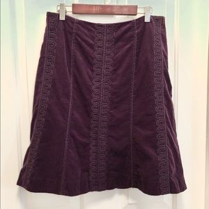 Boden Corduroy Skirt Eggplant Purple 8R